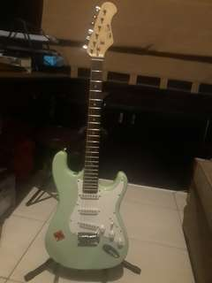 RUSH Mintgreen Stratocaster Electric Guitar