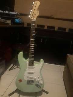 RUSH Mintgreen Stratocaster Electric Guitar