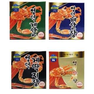 現貨 韓國蟹膏蟹肉