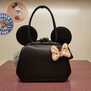 Coach x Disney MINNIE MOUSE EARS LIMITED EDITION F29349 BLACK