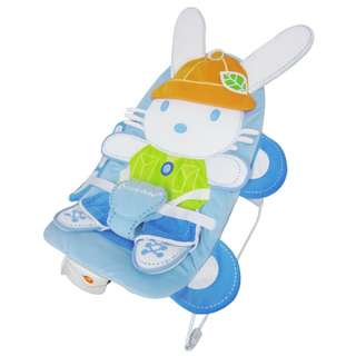 Blue Lucky Baby Peppy Baby Bouncer