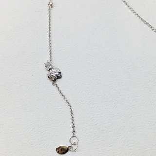 Ladybug bracelet 14k white gold