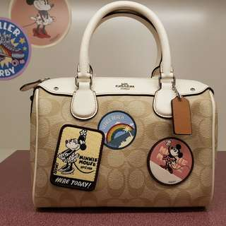 Coach x Disney MINNIE MOUSE PATCHES MINI BENNETT SATCHEL Limited Edition F29357
