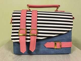 Fashion Handbag Jean with Stripe