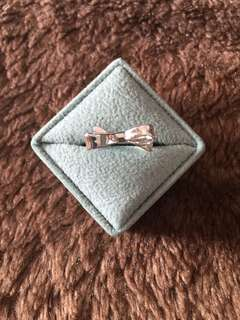 NWOT kate spade love note bow ring size 8 silver