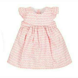Mothercare Dress Wavy Pink