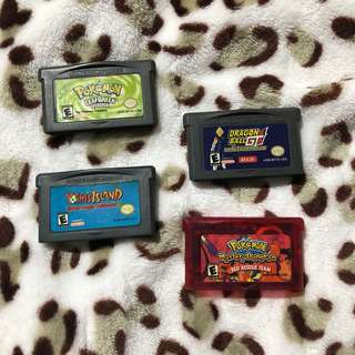 Gameboy Advance GBA Cartridges