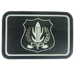 Terlaris Rubber Patch Security Velcro Tactical