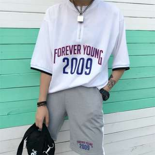 PO // Forever Young 2009 Zip Up Collar Tee // BIF006