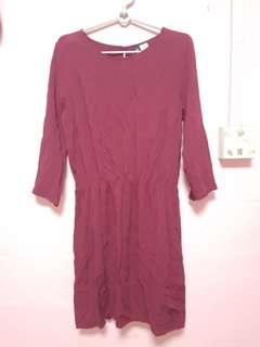 BN H&M Maroon Dress