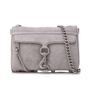 Authentic Rebecca Minkoff Mini Mac in Grey Nubuck Leather