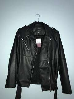 NWT ZARA Leather Jacket (price drop)