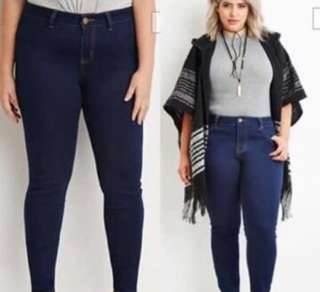 Joni Jeans Navy Blue Pants (Plus Size)