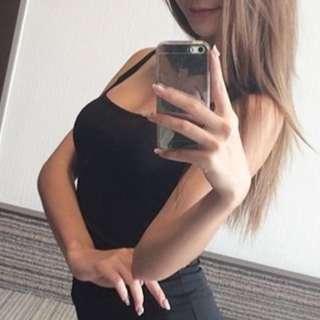 HNM black dress sexy
