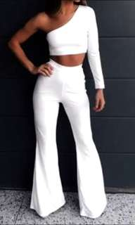 Tammy Hembrow (in the style) White Flare Pants