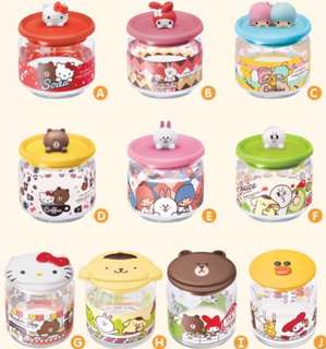 7-11 LINE x SANRIO Glass Container Collection