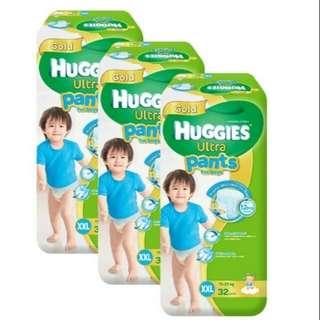 Huggies Ultra Pants XXL for Boys 32 pcs