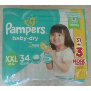 Pampers Baby Dry XXL 34 pcs