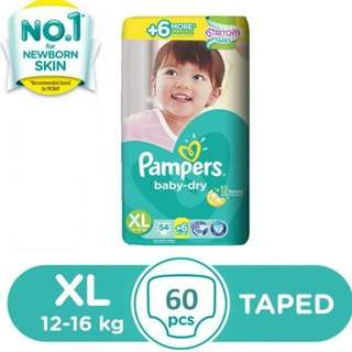 Pampers Dry 68 pcs Taped