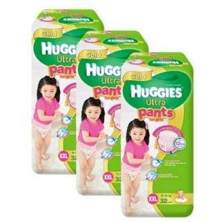 Huggies Ultra Pants for Girls XXL 32 pcs