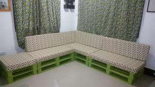 L Shape Detacheable Sofa Set