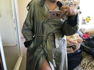 Green RALEX trench coat