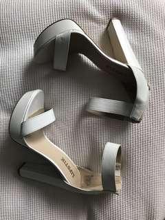 Lipstick White Heels Size 8