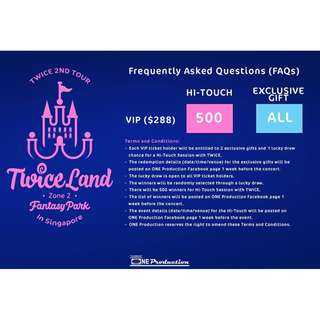 【VIP Seated】TWICE 2ND TOUR : Fantasy Park