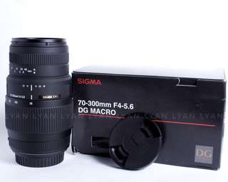 lensa sigma 70-300 macro DG for canon like new free uv
