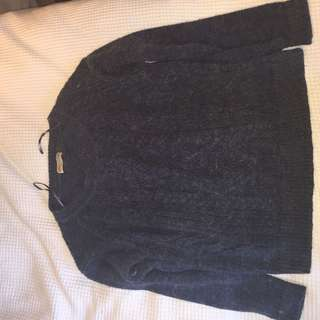 Fluffy cosy navy jumper