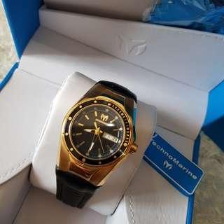 Authentic Technomarine TM115388 Womens Cruise Gold Tone Watch