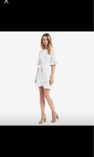 Seed wrap dress worn once white size 6 rrp$139.95