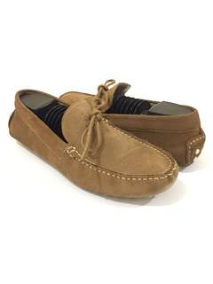 Zara man suede driver loafers
