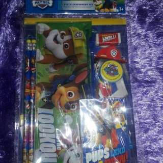 Pawpatrol stationery set