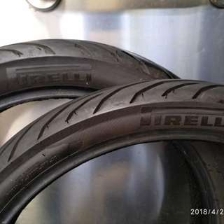 Pirelli motorcycle tires, 100/90-17; 90/80-17