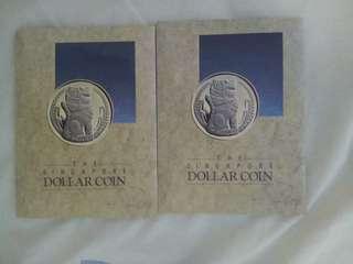 Singapore $1  lion coin