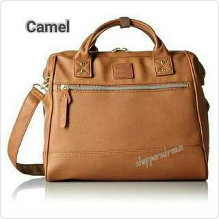 ✳ Camel Authentic Anello 2-way Leather Boston Sling