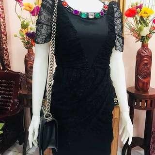 Love Moschino Jewel Lace bodycon dress