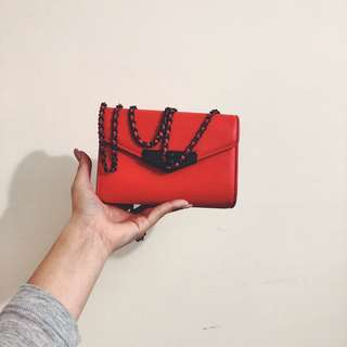 Cute shoulder chain bag in Red