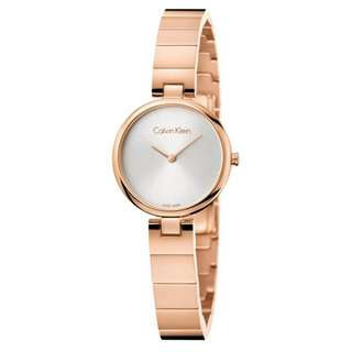 SILVER DIAL ROSE GOLD-TONE STAINLESS STEEL LADIES' WATCH K8G23646