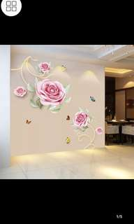 🌹Instock Rose wall sticker living room wall decorations room stickers warm bedroom wall sticker Home decor