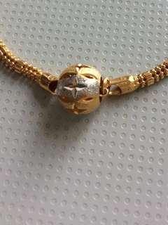 916/22k gold pendant/pandora charm