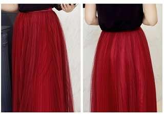 Tulle Maxi Skirt 168001 CF*ready stock*