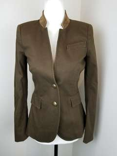 Zara suede elbow patch blazer size XS