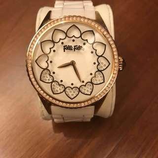 🚚 降!降!Folli Follie白色陶瓷錶大錶面