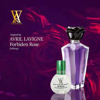 """Inspired perfume by product wan """" Avril Lavigne Forbidden Rose """""""