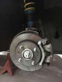 Mitsubishi Lancer CS3 brembo slotted rotor