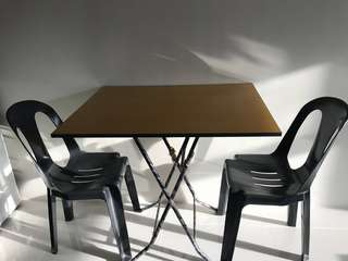 Multi-purpose table and monobloc chairs (set)