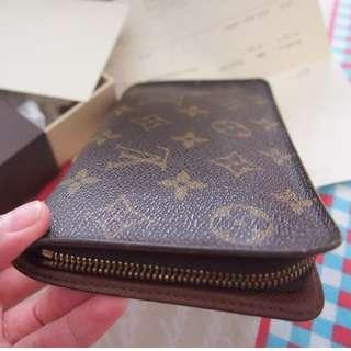 Louis Vuitton Monogram Canvas Porte Monnaie Zippe wallet