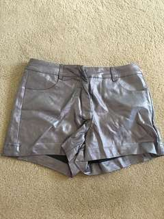 BNWOT Forever 21 silver shorts XS